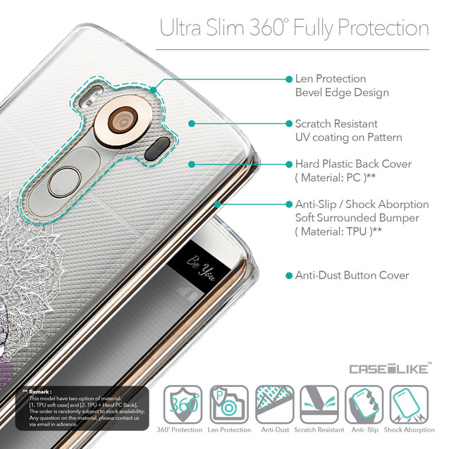 Details in English - CASEiLIKE LG V10 back cover Mandala Art 2301