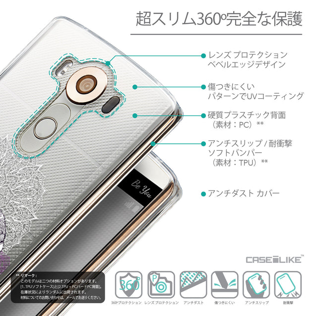 Details in Japanese - CASEiLIKE LG V10 back cover Mandala Art 2301