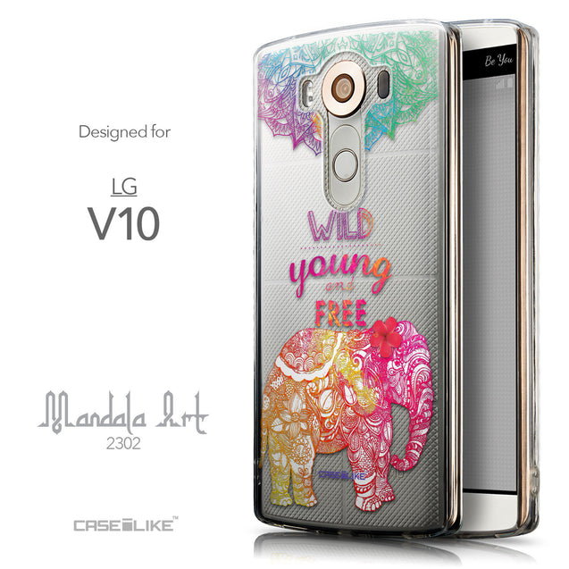 Front & Side View - CASEiLIKE LG V10 back cover Mandala Art 2302