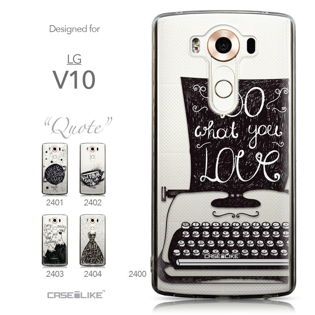 Collection - CASEiLIKE LG V10 back cover Quote 2400