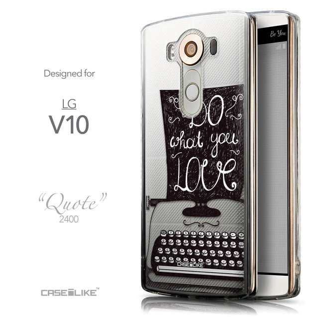 Front & Side View - CASEiLIKE LG V10 back cover Quote 2400