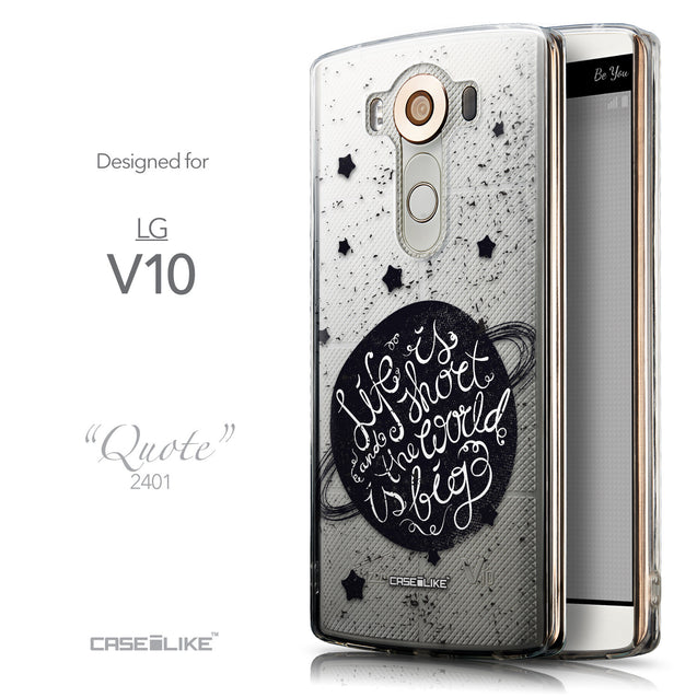 Front & Side View - CASEiLIKE LG V10 back cover Quote 2401