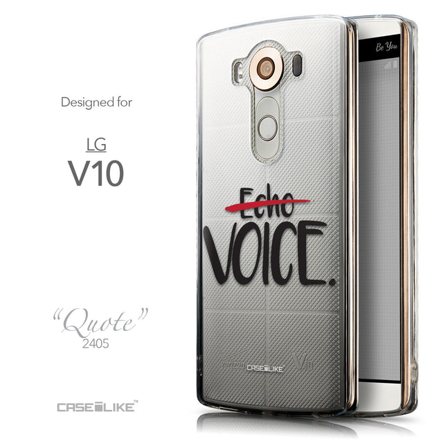 Front & Side View - CASEiLIKE LG V10 back cover Quote 2405