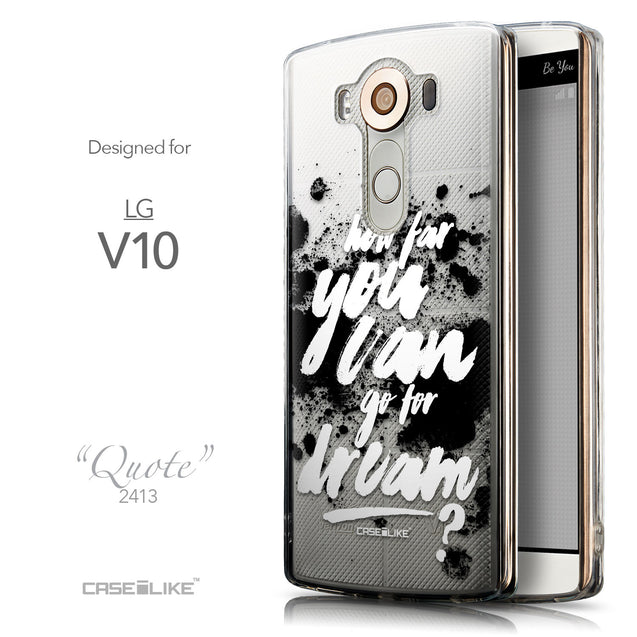 Front & Side View - CASEiLIKE LG V10 back cover Quote 2413