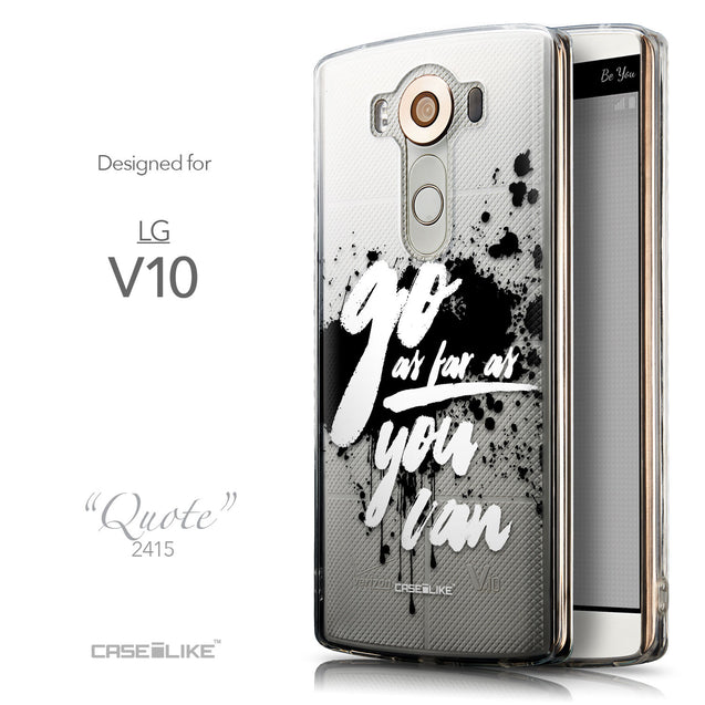 Front & Side View - CASEiLIKE LG V10 back cover Quote 2415