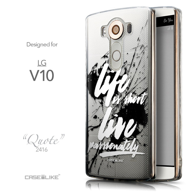 Front & Side View - CASEiLIKE LG V10 back cover Quote 2416