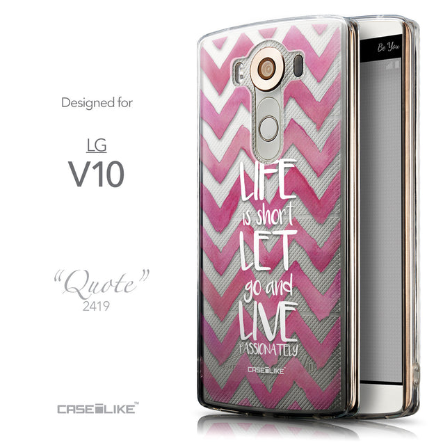 Front & Side View - CASEiLIKE LG V10 back cover Quote 2419