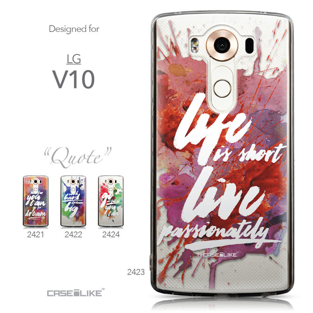 Collection - CASEiLIKE LG V10 back cover Quote 2423