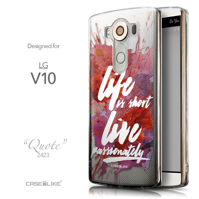 Front & Side View - CASEiLIKE LG V10 back cover Quote 2423
