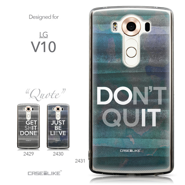 Collection - CASEiLIKE LG V10 back cover Quote 2431