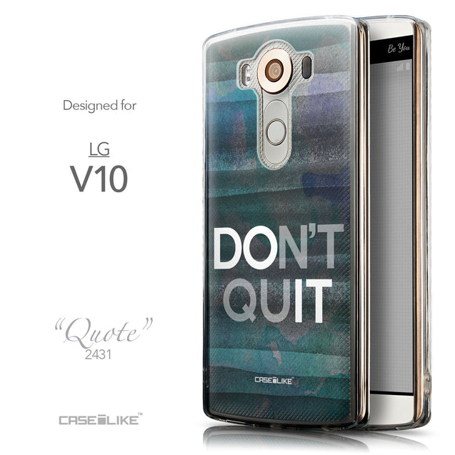 Front & Side View - CASEiLIKE LG V10 back cover Quote 2431