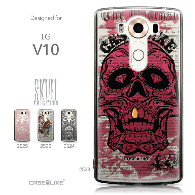 Collection - CASEiLIKE LG V10 back cover Art of Skull 2523