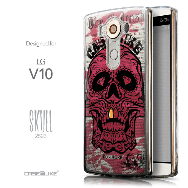 Front & Side View - CASEiLIKE LG V10 back cover Art of Skull 2523