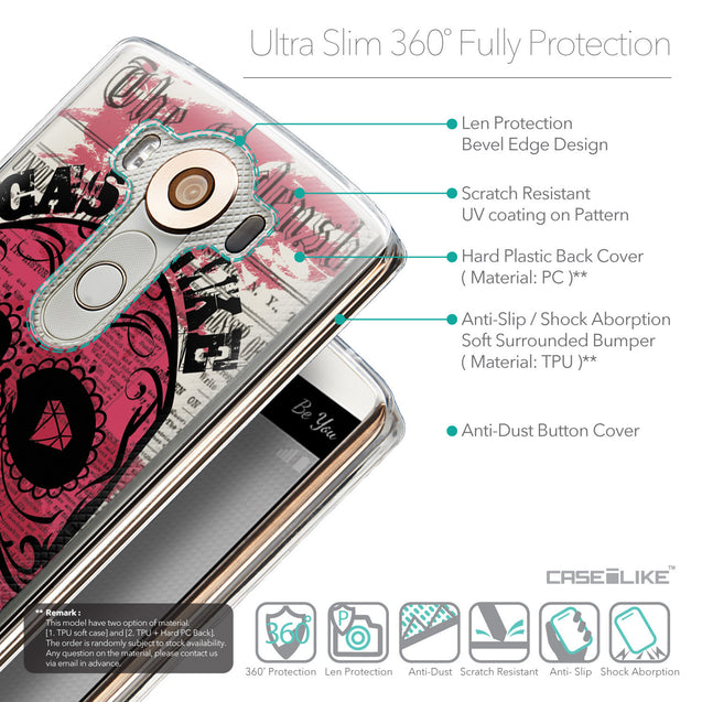 Details in English - CASEiLIKE LG V10 back cover Art of Skull 2523