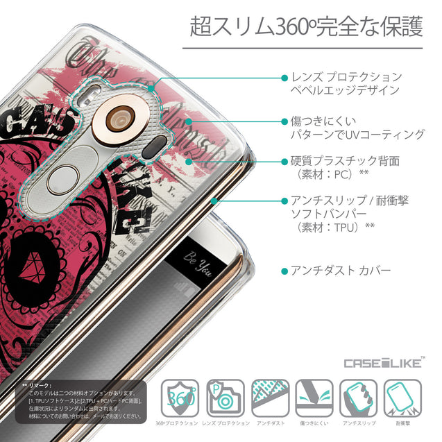 Details in Japanese - CASEiLIKE LG V10 back cover Art of Skull 2523