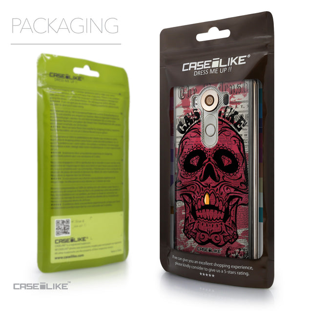 Packaging - CASEiLIKE LG V10 back cover Art of Skull 2523