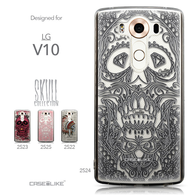 Collection - CASEiLIKE LG V10 back cover Art of Skull 2524
