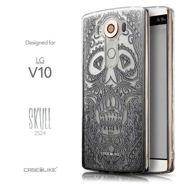 Front & Side View - CASEiLIKE LG V10 back cover Art of Skull 2524
