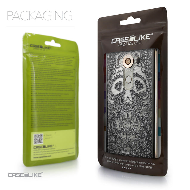 Packaging - CASEiLIKE LG V10 back cover Art of Skull 2524