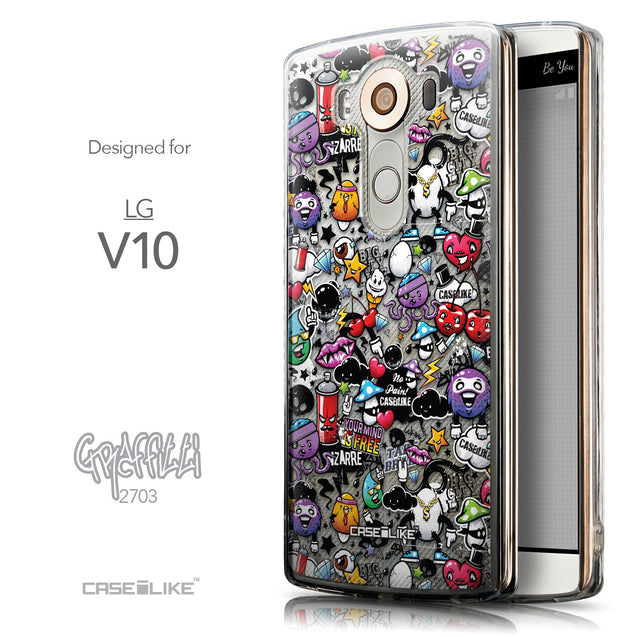 Front & Side View - CASEiLIKE LG V10 back cover Graffiti 2703