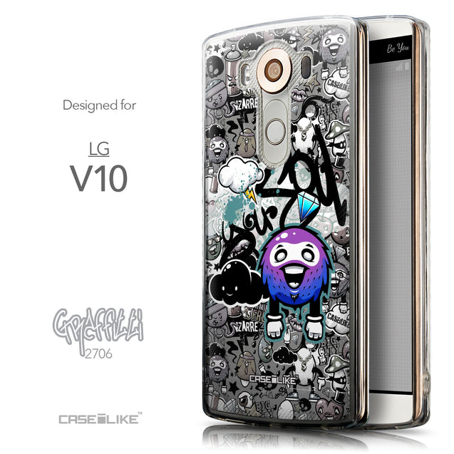 Front & Side View - CASEiLIKE LG V10 back cover Graffiti 2706