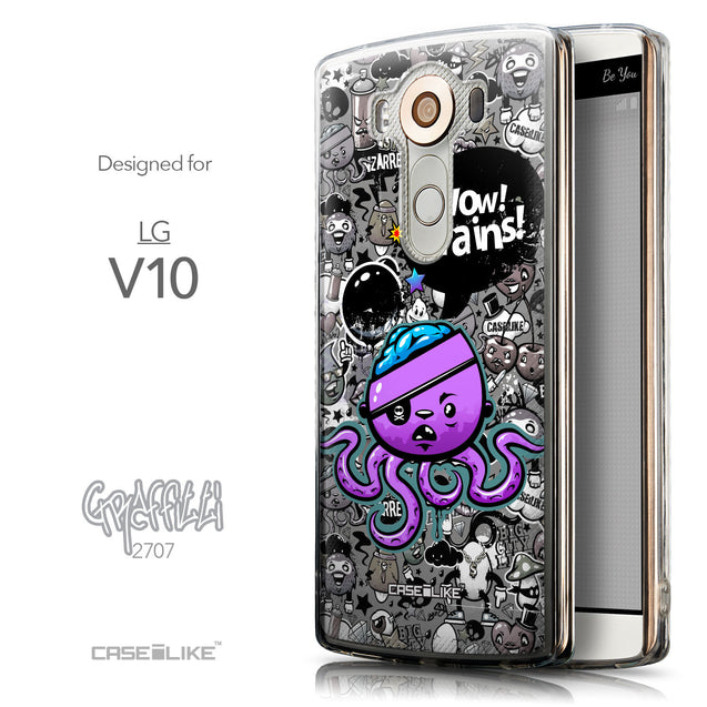 Front & Side View - CASEiLIKE LG V10 back cover Graffiti 2707