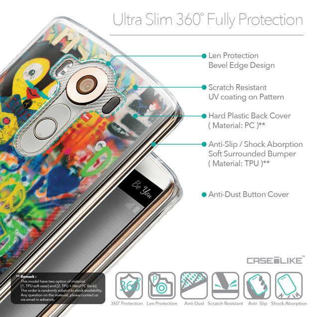 Details in English - CASEiLIKE LG V10 back cover Graffiti 2723