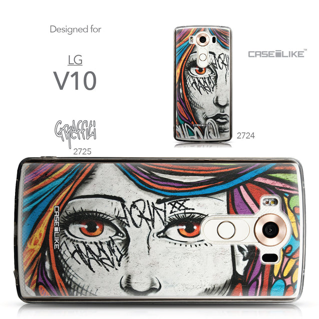 Collection - CASEiLIKE LG V10 back cover Graffiti Girl 2725