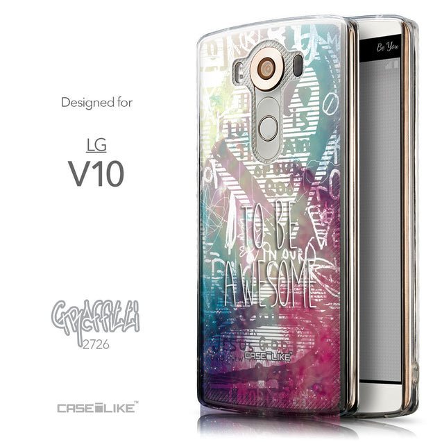 Front & Side View - CASEiLIKE LG V10 back cover Graffiti 2726