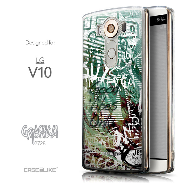 Front & Side View - CASEiLIKE LG V10 back cover Graffiti 2728