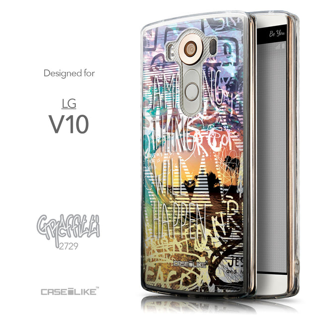 Front & Side View - CASEiLIKE LG V10 back cover Graffiti 2729