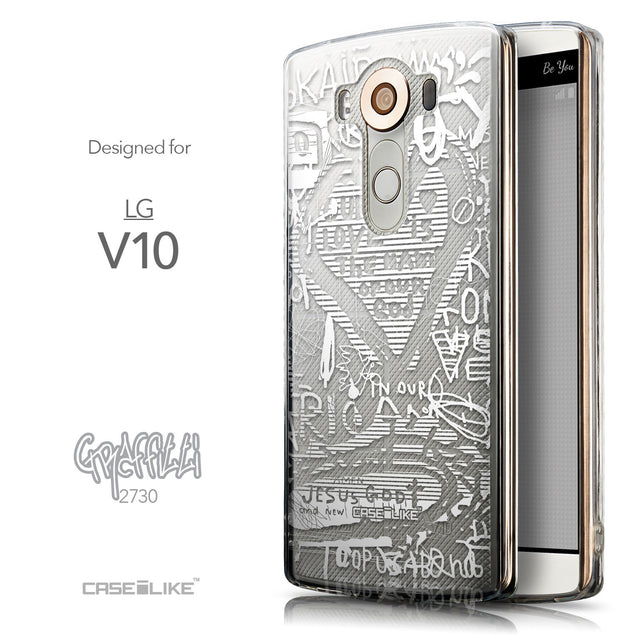 Front & Side View - CASEiLIKE LG V10 back cover Graffiti 2730