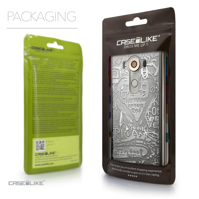 Packaging - CASEiLIKE LG V10 back cover Graffiti 2730