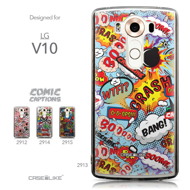 Collection - CASEiLIKE LG V10 back cover Comic Captions Blue 2913
