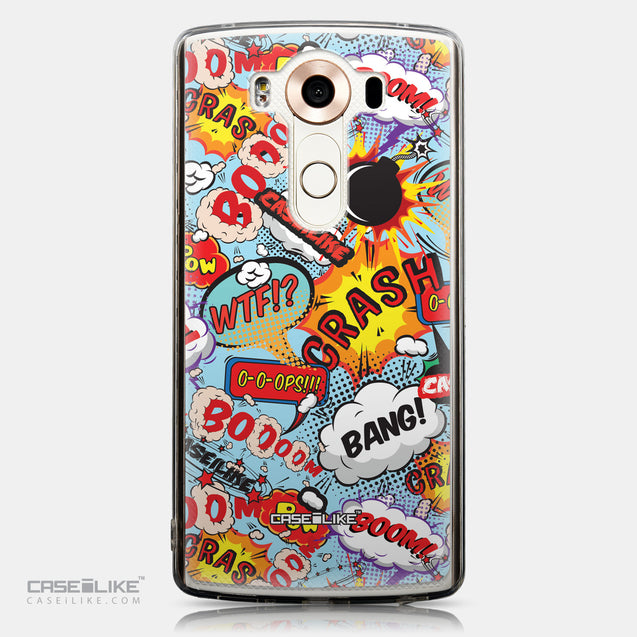 CASEiLIKE LG V10 back cover Comic Captions Blue 2913