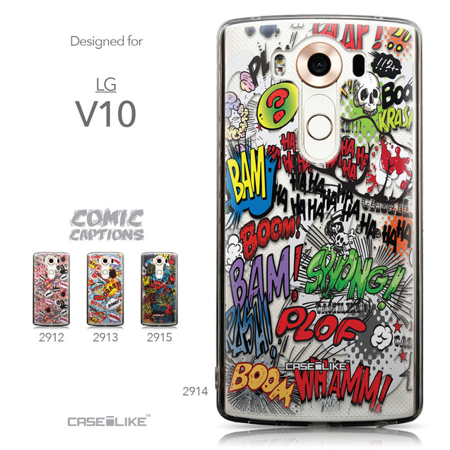 Collection - CASEiLIKE LG V10 back cover Comic Captions 2914