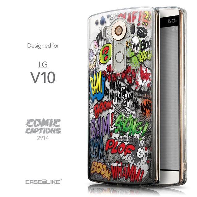 Front & Side View - CASEiLIKE LG V10 back cover Comic Captions 2914