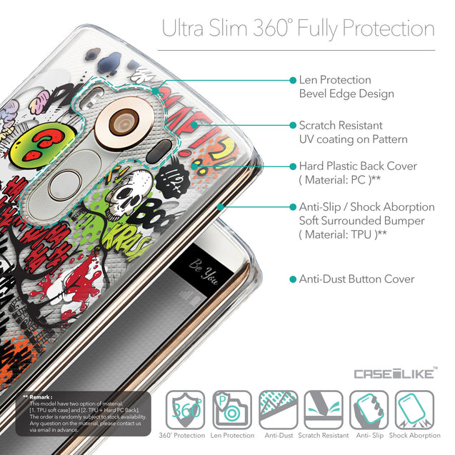 Details in English - CASEiLIKE LG V10 back cover Comic Captions 2914