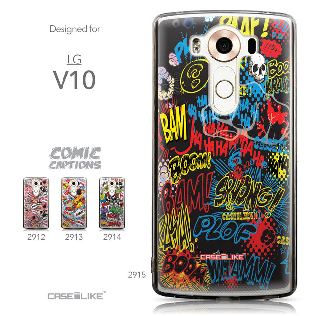 Collection - CASEiLIKE LG V10 back cover Comic Captions Black 2915