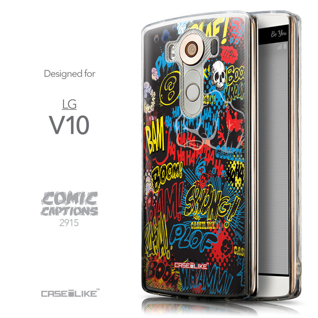 Front & Side View - CASEiLIKE LG V10 back cover Comic Captions Black 2915
