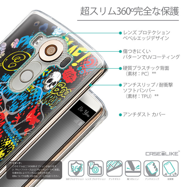 Details in Japanese - CASEiLIKE LG V10 back cover Comic Captions Black 2915