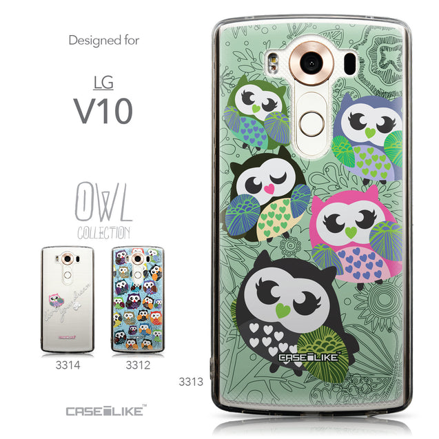 Collection - CASEiLIKE LG V10 back cover Owl Graphic Design 3313