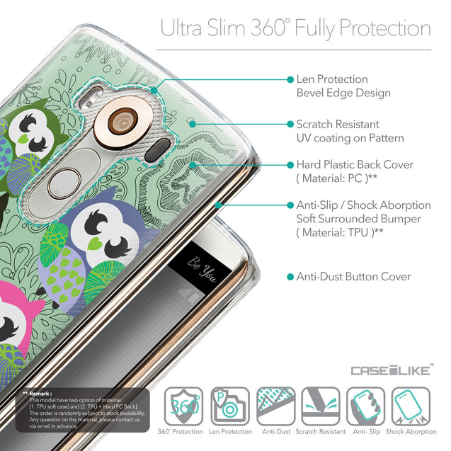 Details in English - CASEiLIKE LG V10 back cover Owl Graphic Design 3313