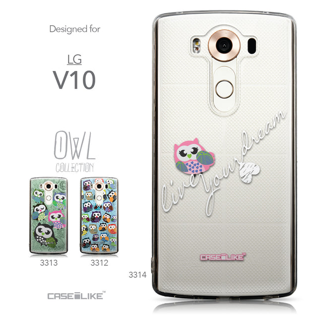 Collection - CASEiLIKE LG V10 back cover Owl Graphic Design 3314