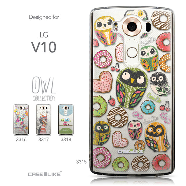 Collection - CASEiLIKE LG V10 back cover Owl Graphic Design 3315