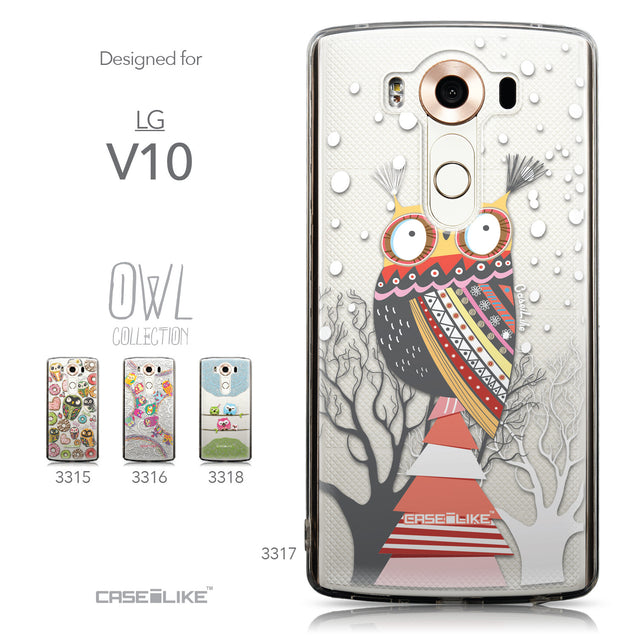 Collection - CASEiLIKE LG V10 back cover Owl Graphic Design 3317
