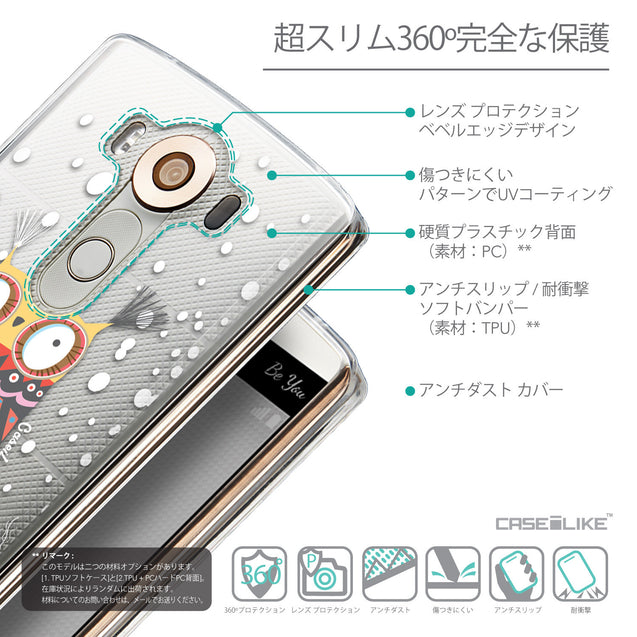 Details in Japanese - CASEiLIKE LG V10 back cover Owl Graphic Design 3317