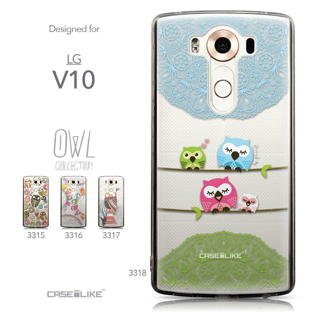 Collection - CASEiLIKE LG V10 back cover Owl Graphic Design 3318