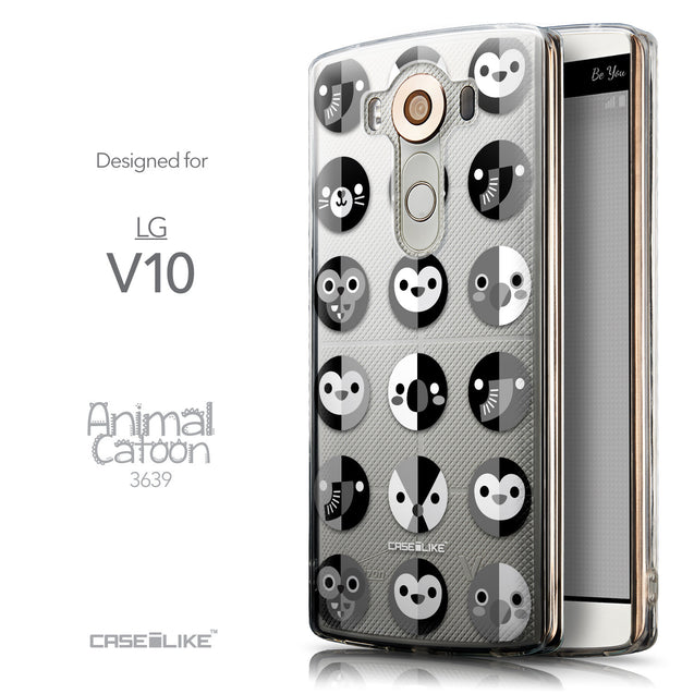 Front & Side View - CASEiLIKE LG V10 back cover Animal Cartoon 3639