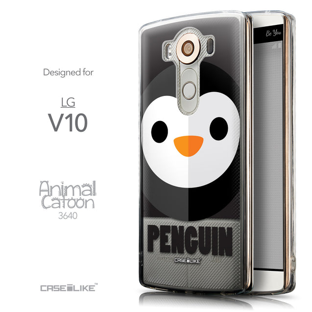 Front & Side View - CASEiLIKE LG V10 back cover Animal Cartoon 3640